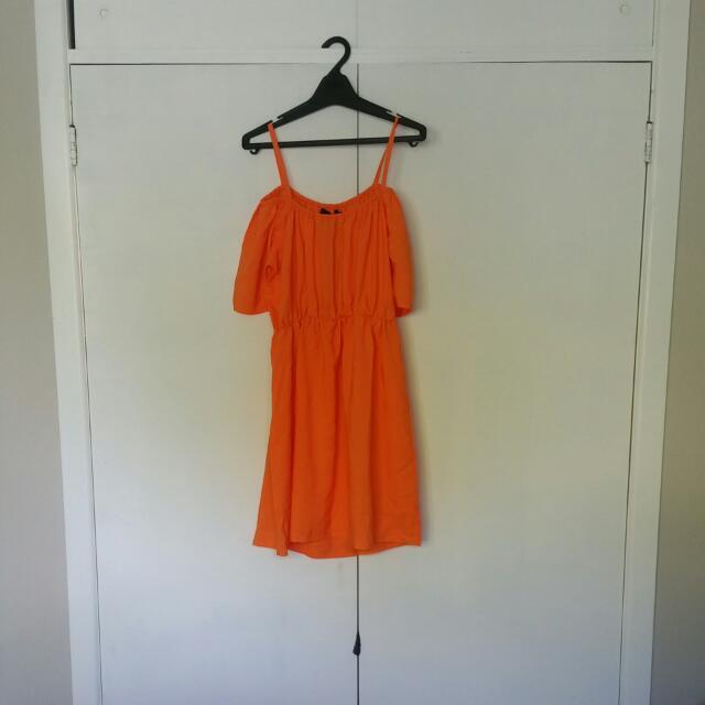 Orange off The Shoulder dress - Brand New