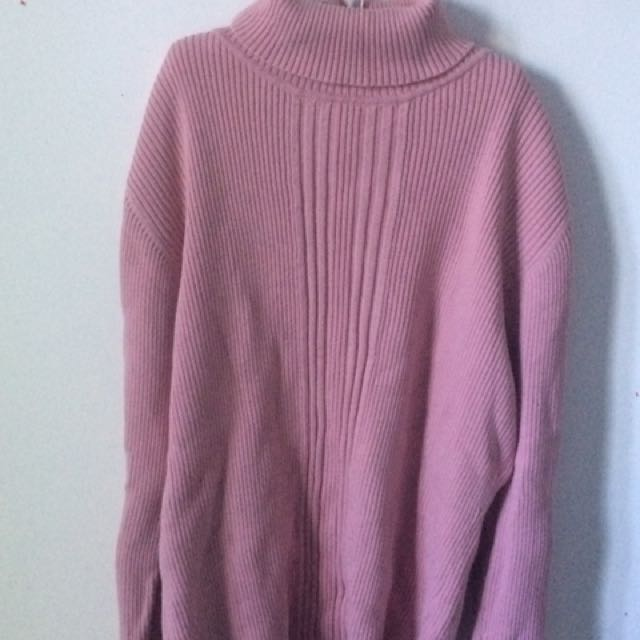 Pink Turtle Neck