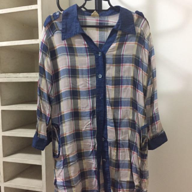 Plaid Shirt/Cover-up