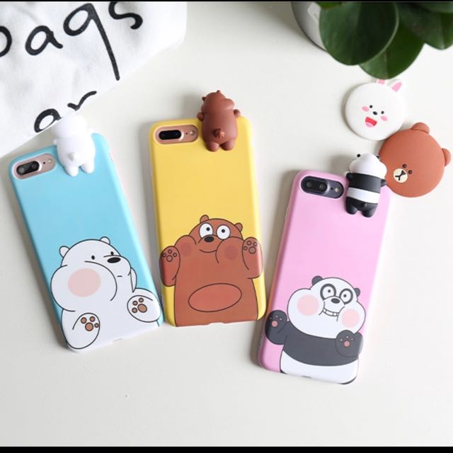 purchase cheap c4bc7 21fbf (PO!!) WE BARE BEARS SQUISH FACE CASE