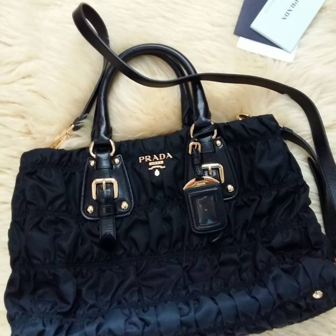 ... wallets on carousell 44ad9 7e473  good prada tessuto gaufre tote black  bought from paris complete set wt rep bags luxury bags eb54c5bdc1392