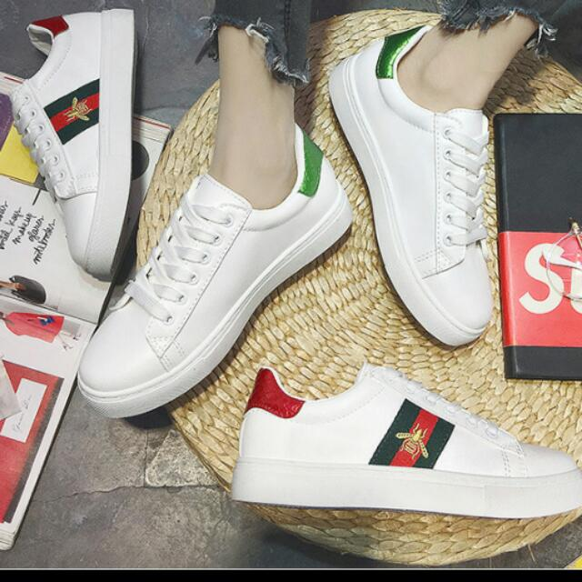 4274a44d05b Preorder  Gucci Inspired White Ace Embroidered Low Top Sneakers ...