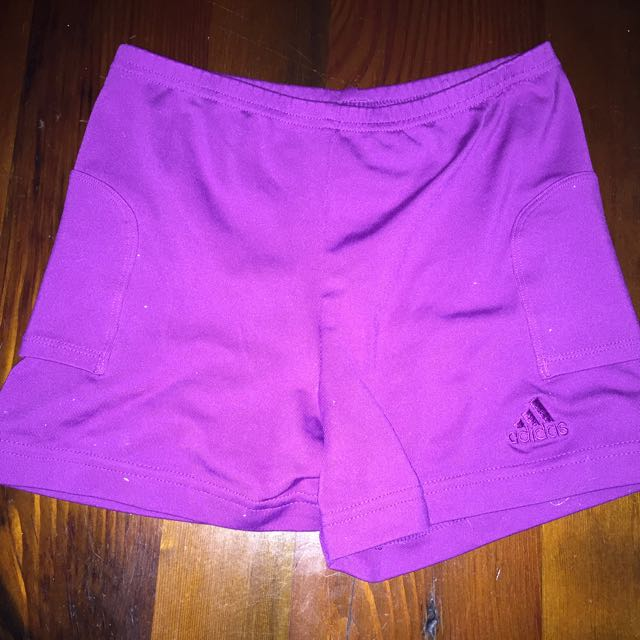 Purple Adidas Bike Pants