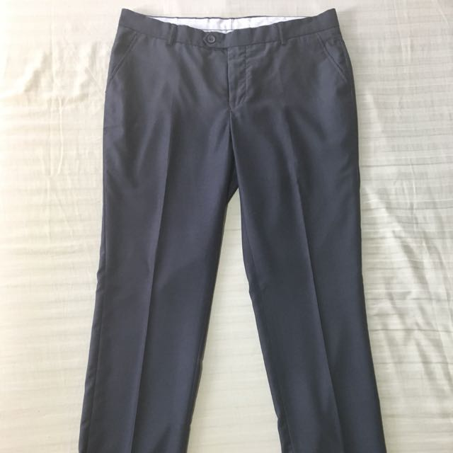 RAFAEL Gray Corporate Skinny Slacks (Size 34)
