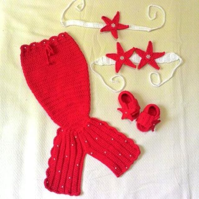 Red Mermaid Costume Crochet