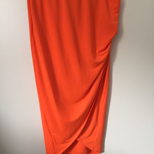 Sheike Orange Skirt Size 12