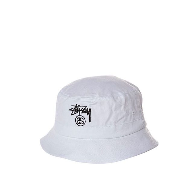 98be1185375375 Stussy Bucket Hat 'White', Men's Fashion, Accessories, Caps & Hats on  Carousell