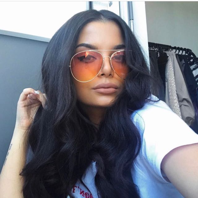 Sunglasses - Yellow/orange Lenses