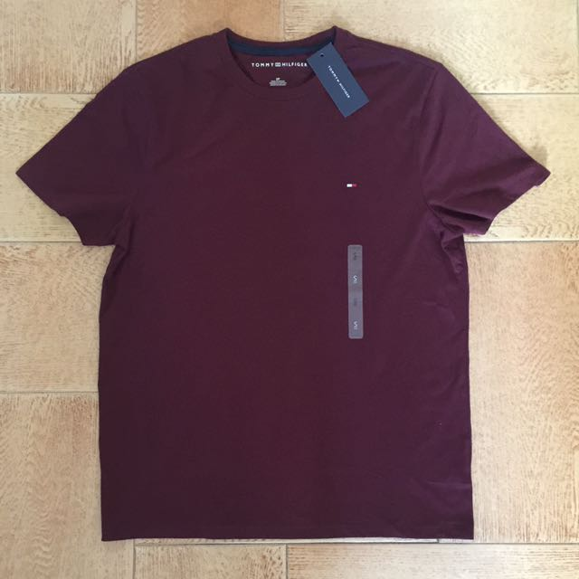 a88cf2b2 Tommy Hilfiger Maroon/burgundy Tee S, Men's Fashion, Clothes on ...
