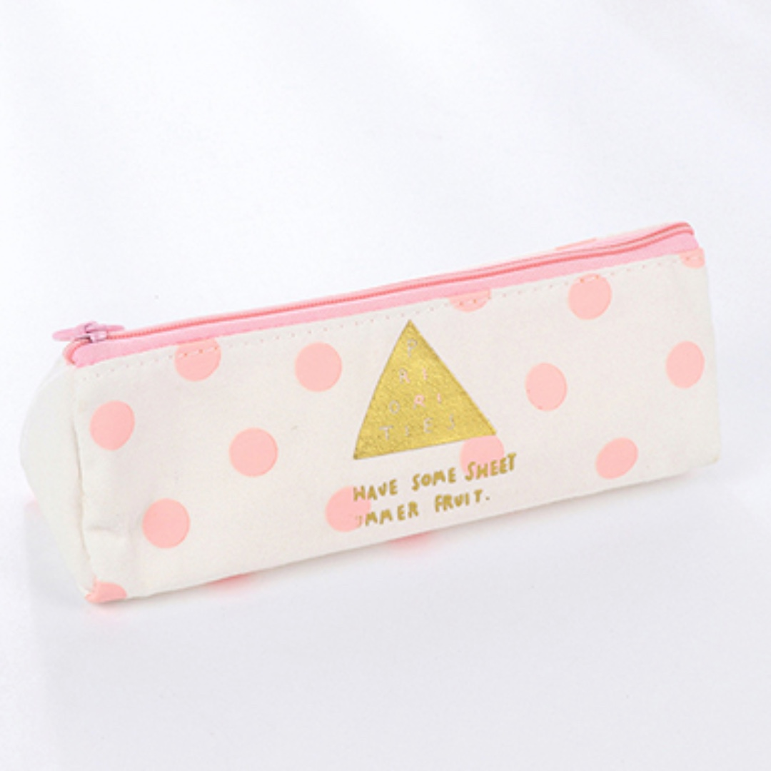 tumblr pastel pink and white with gold lettering pencil case books