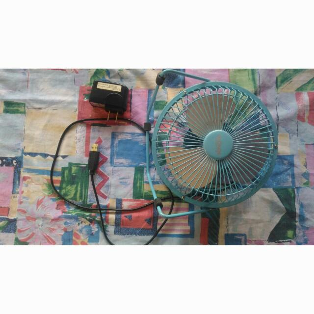 USB cable mini fan with adapter