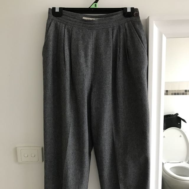 Vintage Grey High Waisted Culottes /pants