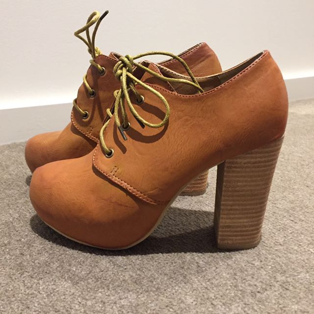Vintage Heeled Boots Size 5