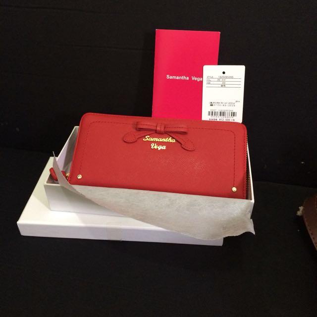 Wallet Samantha Vega Dompet Red Merah
