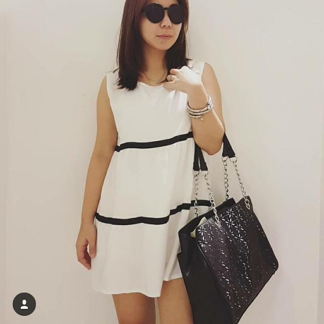 White Long Blouse/Dress
