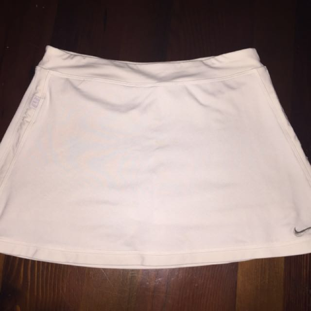 White Nike Tennis Skirt W/ Bikepants