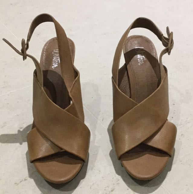 Wittner Tan Leather Heels Size 39 As New Condition