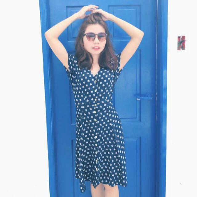 Zoey Vintage Blue Dress