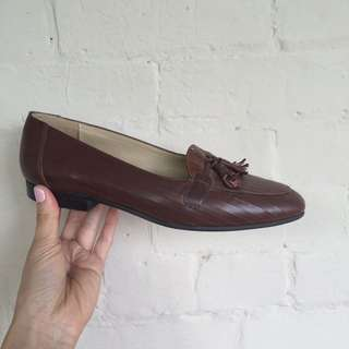 Brown Pointed Toe Loafer