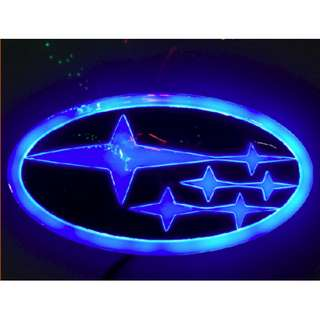 SUBARU 4D LED Logo Lighting light Car badge Emblem Impreza Outback Forester Legacy Tribeca XV Blue