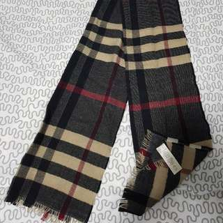 Burberry Wool Scarf Mens Authentic
