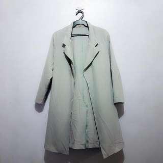 Preloved GTWFab (SM) Long Gray Coat