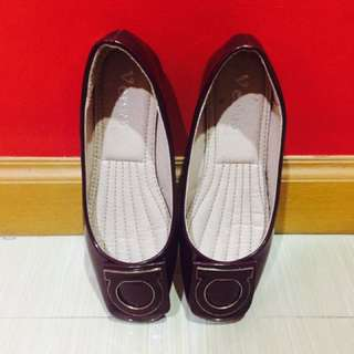 Maroon Flat Shoes