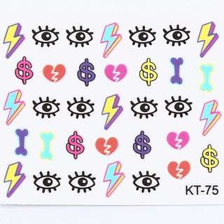 3D KT-75 Nail Stickers