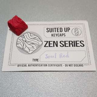 SUK Zen Soul Red Topre artisan keycap