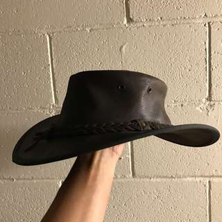Outback Cowboy Genuine Leather Hat Barmah