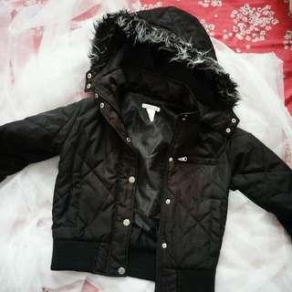 Fur Padded Hoodie Jacket