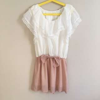 Ruffle Top One-Piece Dress