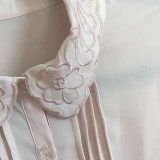 Embroidered- Collar Vintage Shirt