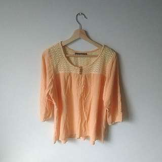 Size 10 | Apricot Summer Top