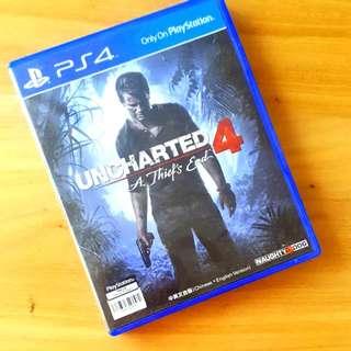 PS4 Unchartered 4 Like New