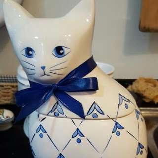 陶瓷貓咪糖果罐