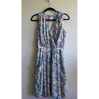 "Sz 2 - Reiss Floral Drape ""Frannie"" Dress"