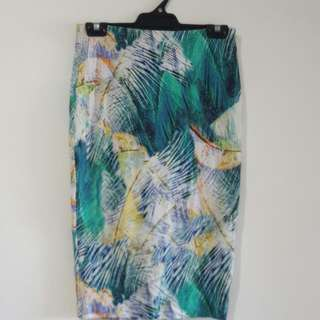 REDUCED Witchery size 8 Tropical Print Skirt