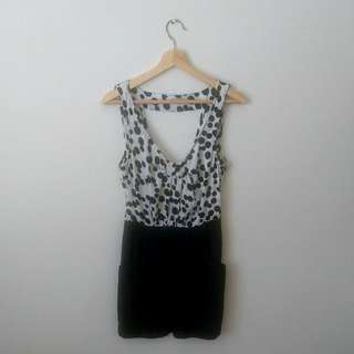 Size 10 | Black and White Dress