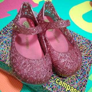 Prelove: Authentic Mini Melissa Campania Glitter Pink Size US 7