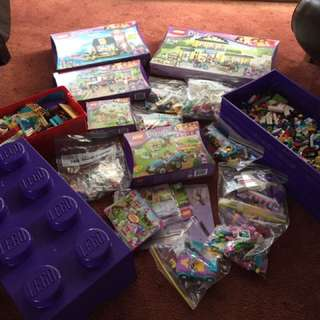 Huge Lot Lego Friends New And Used