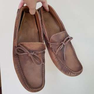 Zara Man Driving Shoes Brown