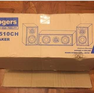 全新英國Rogors 喇叭 一Set. 三隻 Rogors. RC510CH