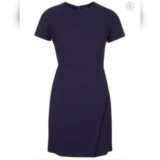 TOPSHOP PETITE ALINE DRESS NAVY 8