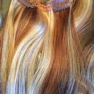 "18"" Real Human Hair Extensions"