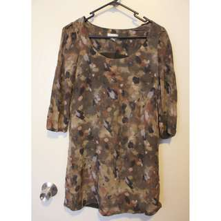 WITCHERY camo dress size 6