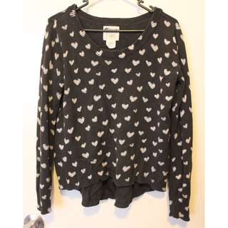 BILLABONG black heart jumper size 8