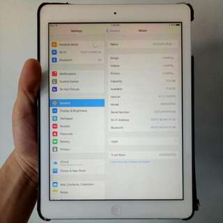 Apple iPad Air 1 16GB (Silver) Wifi Only