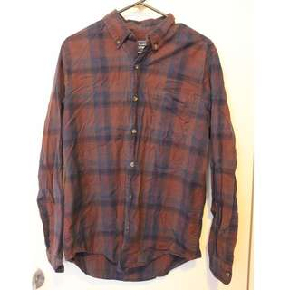 TOPMAN purple flanno size UK M