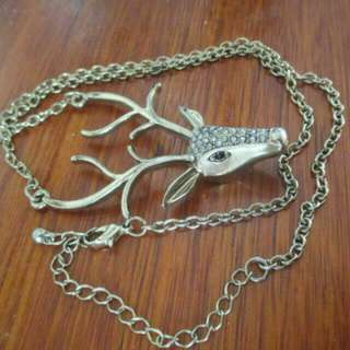 Long-chained Deer Necklace